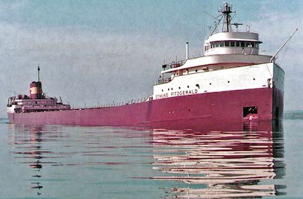 SS Edmund Fitzgerald was an American Great Lakes freighter that sank in a Lake Superior storm on November 10, 1975, with the loss of the entire crew of 29. When launched on June 7, 1958, she was the largest ship on North America's Great Lakes, and she remains the largest to have sunk there.