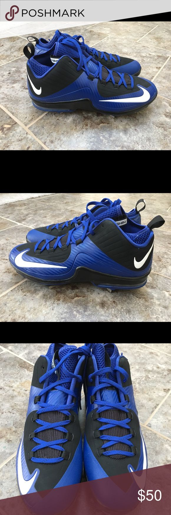 Nike Air Max MVP Elite 2 3/4 Metal Baseball Cleats Brand new, without box. Size: 11.5. Color: Black/Blue. Style: 684687-015. Please make OFFICIAL OFFERS and BUNDLES!! Fast shipping!! Nike Shoes Athletic Shoes