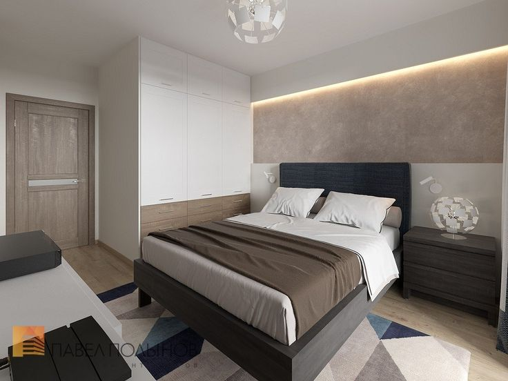 Фото: Спальня - Интерьер квартиры в современном стиле, ЖК «Солнечный»