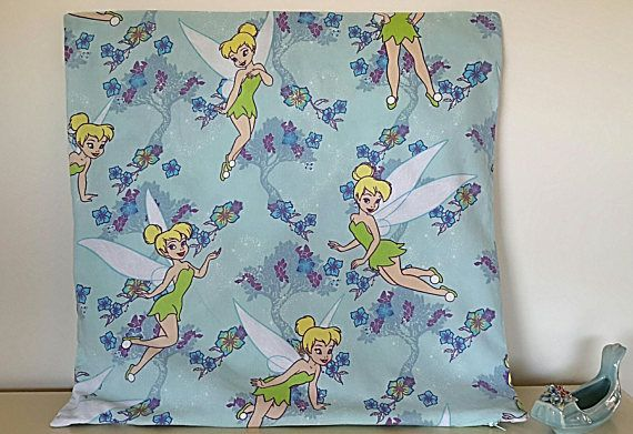 Vintage Tinker Bell  Disney Peter Pan Cotton Large  Cushion