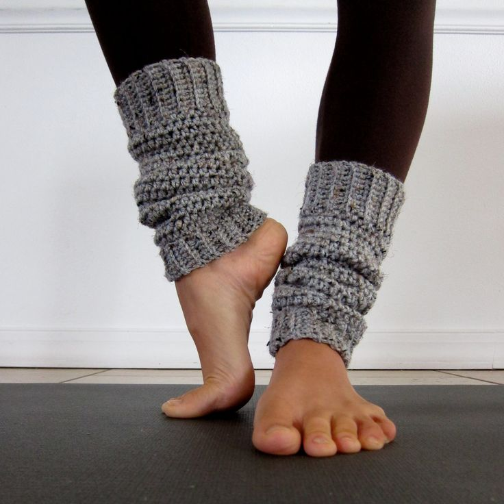 Cozy Grey Crochet Leg Warmers - Ajalove via Etsy