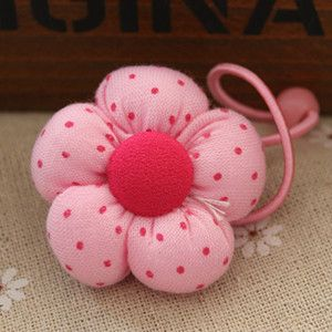 Hand Made. 5 colors available. Elastic Hair Band of pumpkin with dots made by Cotton,Hair Accessories for Girl. #Affiliate