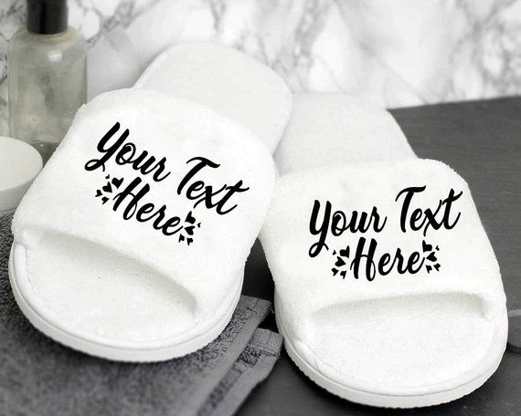 Customize Slippers Custom Design Your Own Bride Velour Slippers Bridal  Velour Shower Kids Slipp… | Personalized wedding slippers, Personalized  wedding, Bridal gifts