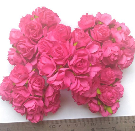 13 best mulberry roses paper flowers images on pinterest roses 50 big hot pink mulberry roses paper flowers size 3 cm 12inch wholesale bulk mightylinksfo