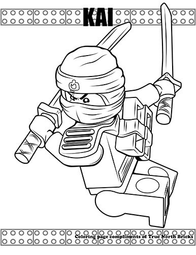Coloring Page - Ninja Kai (With images) | Lego coloring ...
