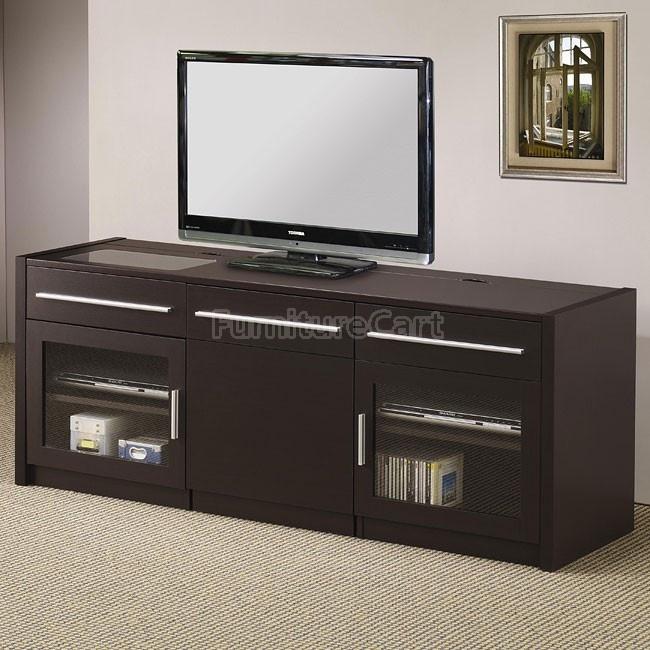 Contemporary TV Console w/ Mobile Computer Caddy | Ideas