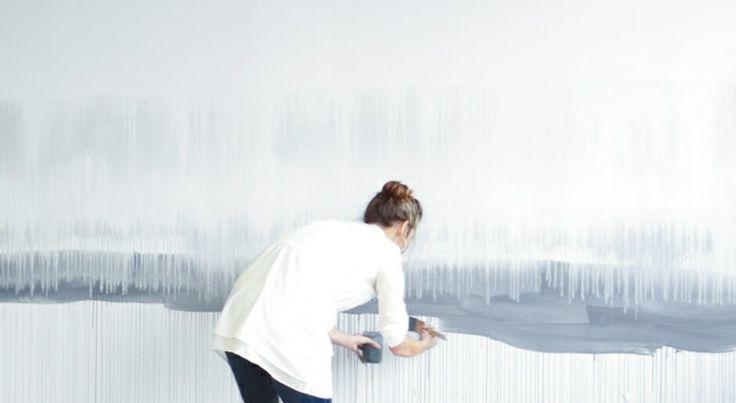 Акварельные стены: омбре, волны и глубина