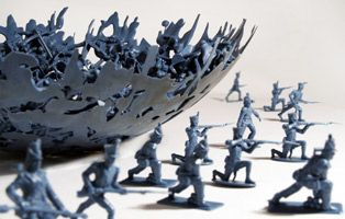 Dominic Wilcox - War BowlMen Bowls, Melted Plastic, Dominic Wilcox, Toys Soldiers, Wars Bowls, Art, Army Men, Crafts, Crafty Ideas
