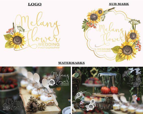 Sunflower logo design Premade logo Photography by LoveArtsStudio