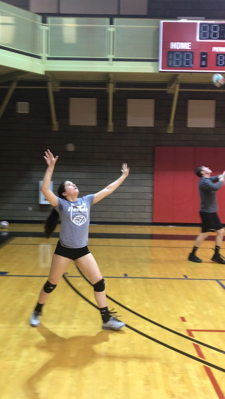 Ball Control Volleyball Drills How To Get Hitting And Digging Reps Volleyball Drills Volleyball Workouts Volleyball Practice