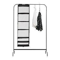MULIG 洋服ラック, ブラック - 99x46 cm - IKEA