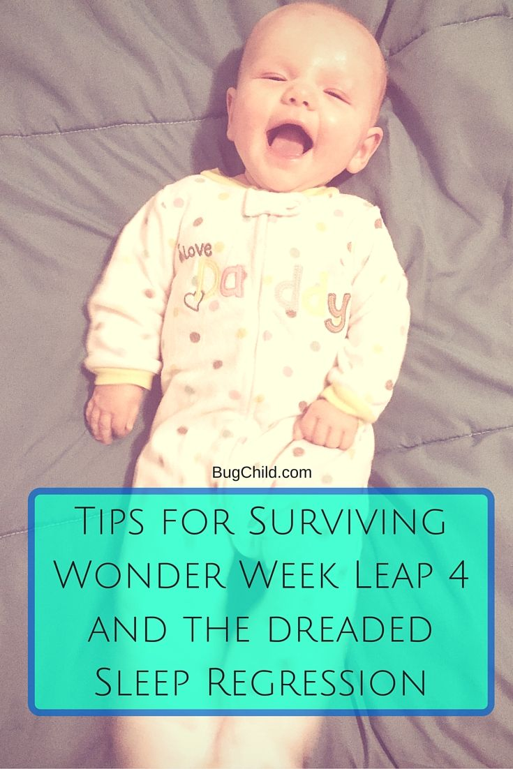 Wonder Week Leap 4 and the brain-numbing sleep regression that came around 15-20 weeks was awful. But we survived. Here are some tips if you are struggling.