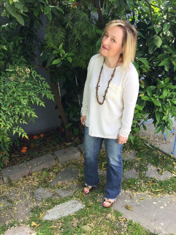 Petite cream sweater for Spring // petite blog // Whatsupcork