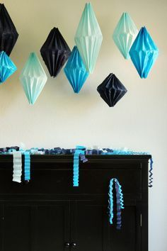 DIY Geometric Lanterns ~ made out of tissue paper!