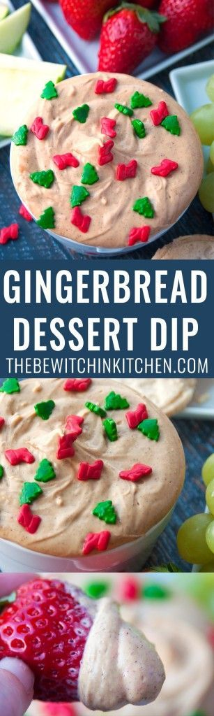 Gingerbread Dessert Dip - this no bake cheesecake dip is so easy and perfect for the Christmas holidays. Uses Truvia's Brown Sugar Blend to keep it as low calorie and low sugar as possible. | http://thebewitchinkitchen.com