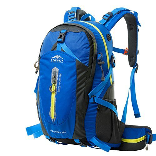 backpacks/Outdoor hiking backpack/Breathable waterproof riding packages/Travel hiking backpack-Royal blue 50L