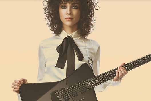 A look at St Vincent's guitar line with 'room for breasts'