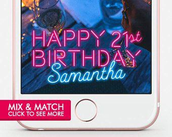 Birthday Snapchat Filter Birthday Snapchat Geofilter Birthday Snapchat Birthday Geofilter Birthday Filter Birthday Snap Chat Neon Geo Filter