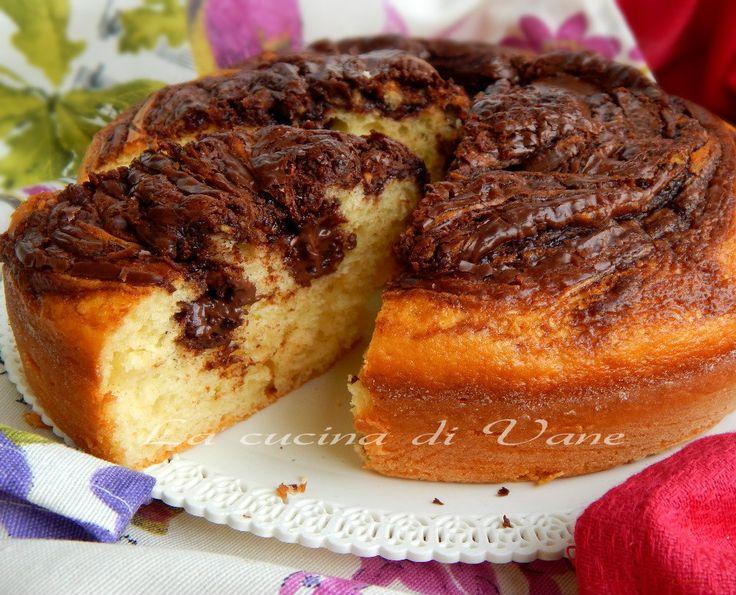 torta golosa yogurt e nutella, ricetta per dolce per la colazione, ricetta per torta soffice senza burro, torta con la nutella ricetta. Ricetta torta golosa