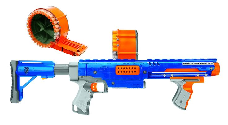 Nerf Raider CS-35 Dart Blaster - Value Pack with Bonus Darts (70 Darts)