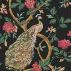 The Wallpaper Company 8 in. x 10 in. Lime Peacocks and Vines Wallpaper Sample-WC1280431S - The Home Depot