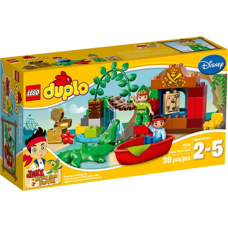 LEGO DUPLO 10526 Peter Pan's Visit. Build and play in Never Land with Jake and Peter Pan!