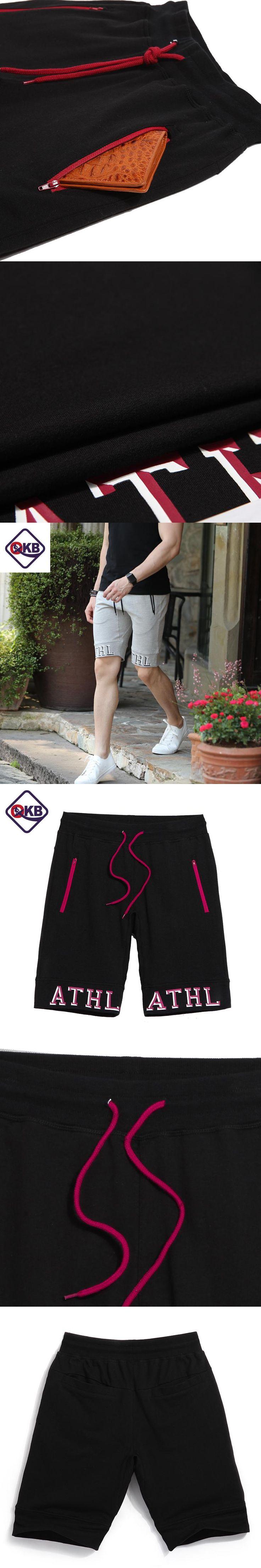 QIKERBONG 2017 Summer Casual Shorts Loose Knitted Bermuda Masculina Ventilate Elastic Waistband Pantalones Cortos Hombre Deporte
