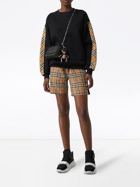 7b7e6c012520 Burberry Vintage Check Detail Sweatshirt - Farfetch