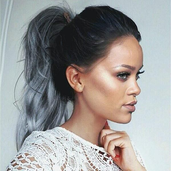 rihanna m xico on hair pinterest rihanna gray hair and hair style. Black Bedroom Furniture Sets. Home Design Ideas