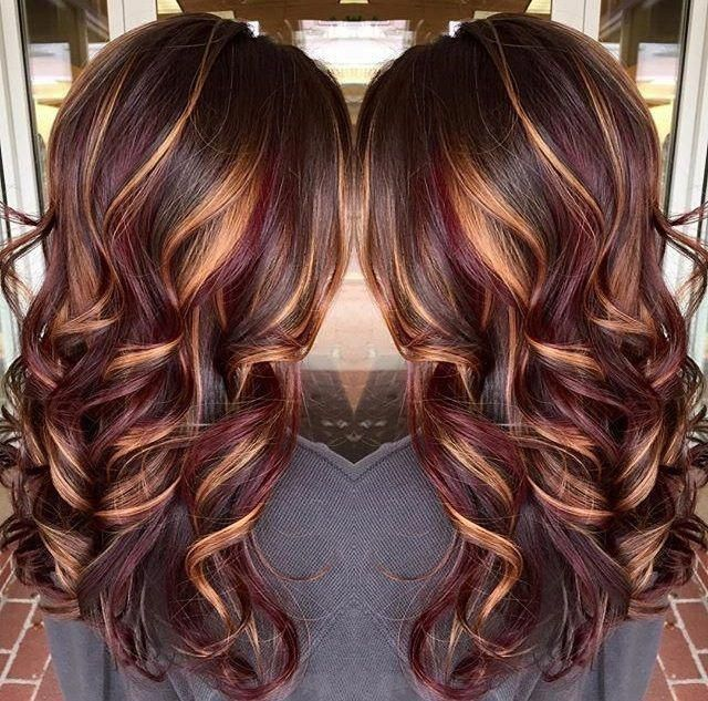34 Latest Hair Color Ideas For 2020 Get Your Hairstyle Inspiration For Next Season In 2020 Brown Hair With Highlights Red Highlights In Brown Hair Trendy Hair Color