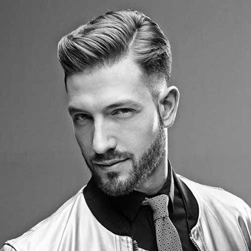 Modern Classy Hairstyles - Low Fade and Hard Part with Comb Over