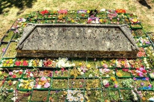 The poet John Clare is celebrated each year by a commemorative custom whereby flower garlands known as cushions are placed around the poets grave at Helpston church near Peterborough. Local schoolchildren place the cushions and read their own poetic compositions, followed by singing and prayers. The custom is part of an annual John Clare Festival celebrating the poets life and work.
