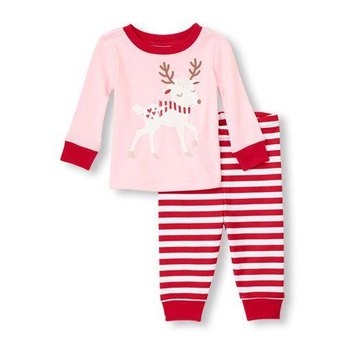 Long Sleeve Reindeer Top & Pants PJ Set - Children's Place