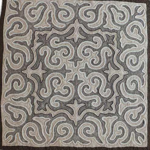 Jygyt. Handmade shyrdak felt carpet.