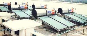 """Service Wika Swh Daerah Tanah Kusir  Hp 082111562722 Terdiri dari : Panel Kolektor dan Tangki yang terhubung dengan dua pipa aksesoris. Panel Kolektor berpenutup kaca dengan rangkaian pipa tembaga didalamnya (Sirip Absorber) berfungsi sebagai penangkap panas sinar matahari.Tangki berfungsi sebagai """"thermos"""" (tempat penyimpanan air berinsulasi) yang mampu menahan penurunan panas air secara minimal."""