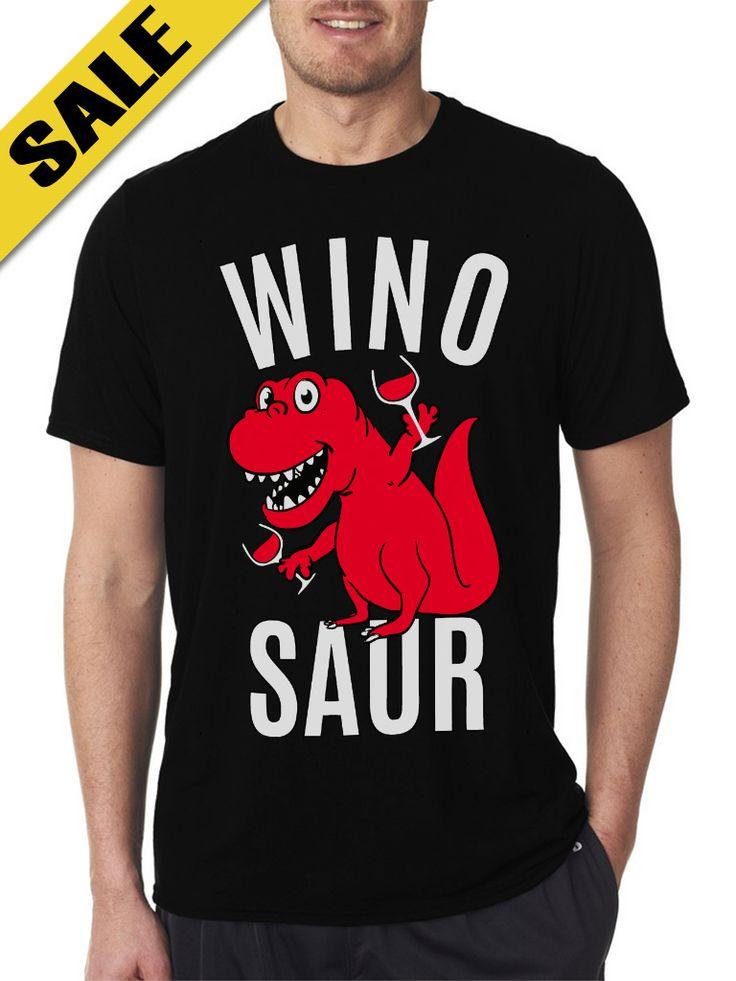 Wino Saur Black T-Shirts For Men's
