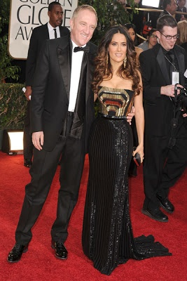 Salma Hayek and Francois-Henri Pinault Got Married At Valentine's Day 2009 -  http://weddingsinthesky.blogspot.com/2013/02/famous-celebrity-couple-valentines-day-wedding.html #Wedding #Valentines