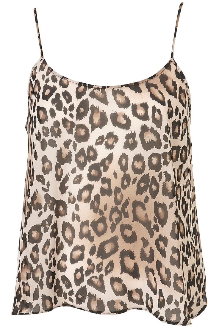 animal print cami.. if I had the bod I would get it!