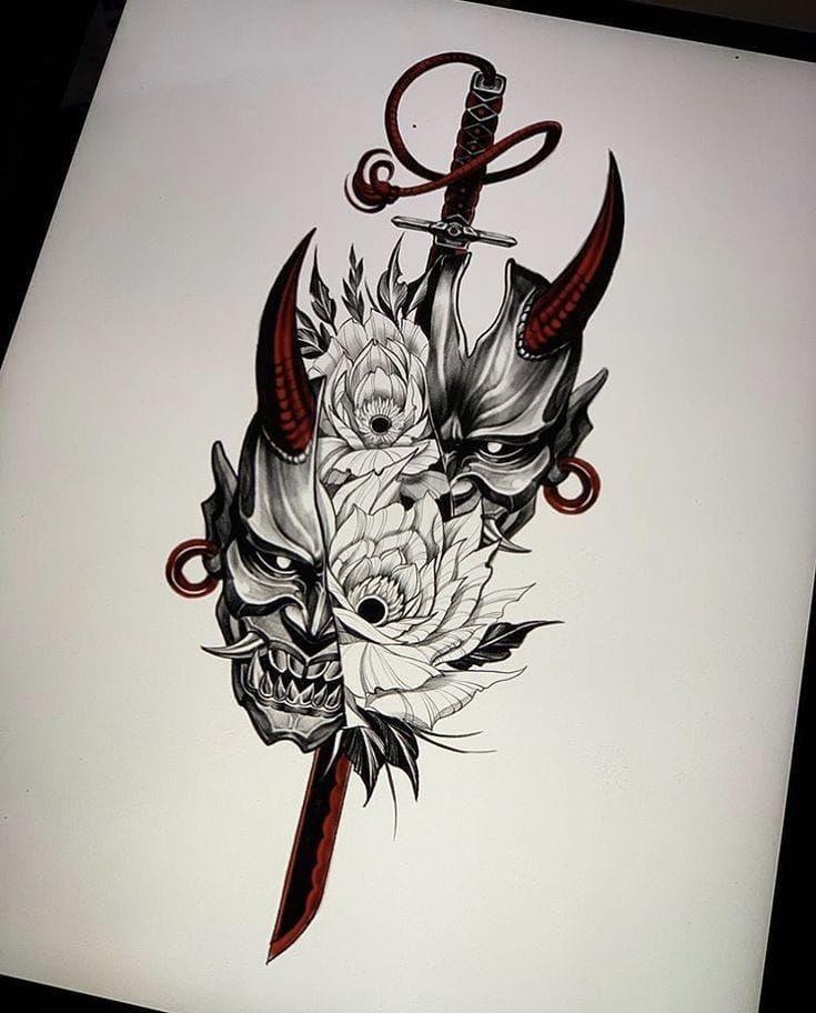 Tumblr In 2020 Japanese Tattoo Designs Tattoo Sleeve Designs Samurai Tattoo Design