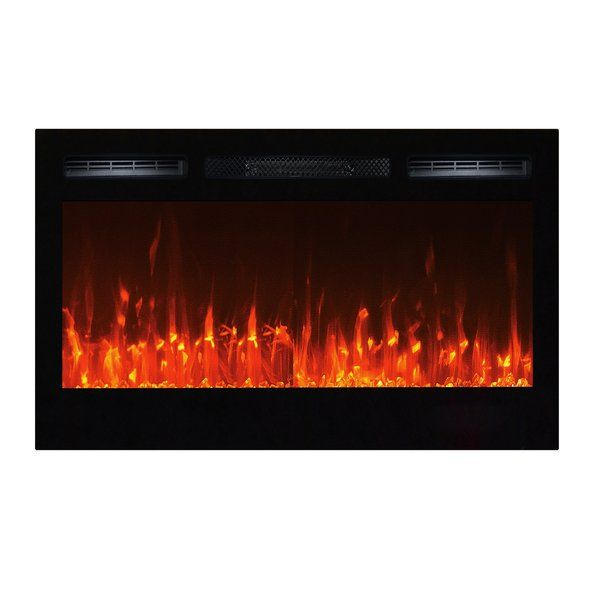 Touchstone's 36 inch Sideline is a compact version of Touchstone's popular 50 inch Sideline. The Sideline series has become so popular, customers regularly ask about finding a version in a size that fits their decor or room size. The Sideline36 has a ventless design, with the vent on the face of the fireplace delivering the heat. Like all Touchstone fireplaces, the Sideline36 has the most realistic flame available in an electric smokeless fireplace, and it will leave all your friends ...
