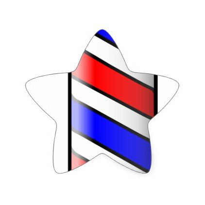 #salon - #Barber Shop Pole Star Sticker