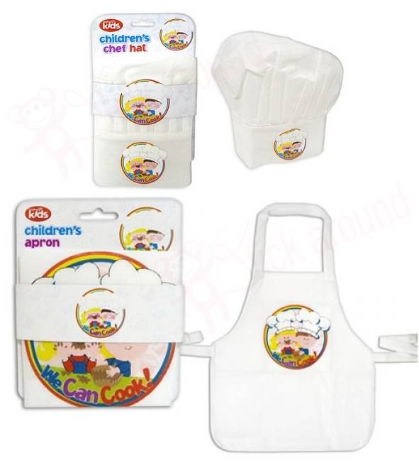 For budding little chefs, this apron & hat set has adjustable velcro neck and waist straps. Suits boys or girls ages 3-6. Selling  for Xmas at http://www.stickaround.com.au/childrens-gifts-ideas/shop-for-boys/unique-gifts-for-boys/kids-we-can-cook-chef-apron-and-hat-set.html