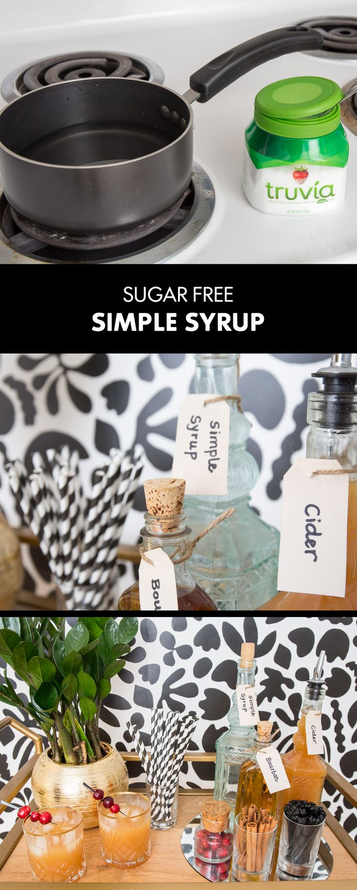 Apple Martini or Whiskey Sour? Your fall cocktail party possibilities are endless when you've got Zero-Calorie Simple Syrup on-hand! Keep this staple on your bar cart for added sweetness in your favorite mixed drinks! Better yet, make two bottles and gift one to a friend!