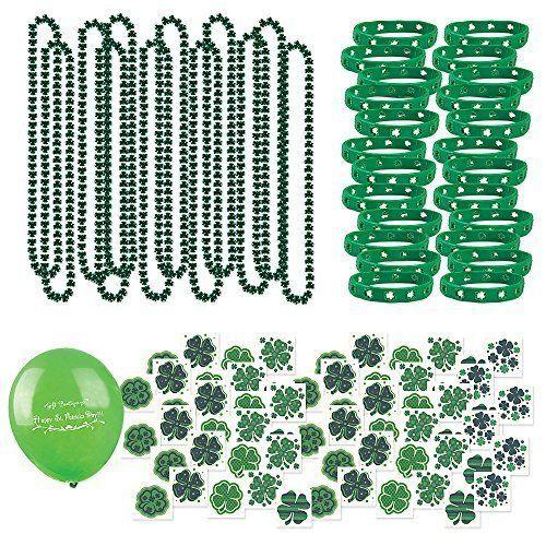 St Patricks Day 109 Shamrock Piece Set Necklace Bracelet Tatoo Baloon Irish New  #stpatrick