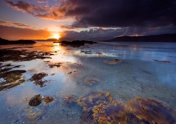 Sunset on Ord Beach - Photography : Isle of Skye. (www.celtic-photography.co.uk)