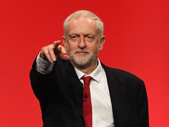 British Labour leader slams Tories' austerity agenda and PM Theresa May's 'disdain for the powerless and the poor'.