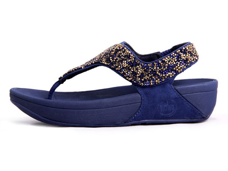 Discount Sale Outlet J3GDDZA4 Women FitFlop Rokkit Blue S diamond Slippers In the UK online