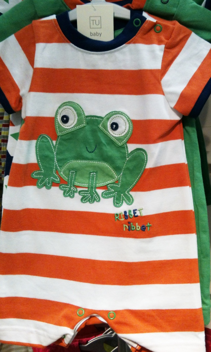 Froggy! Loving the frog clothes for baby boys at Sainsbury's!