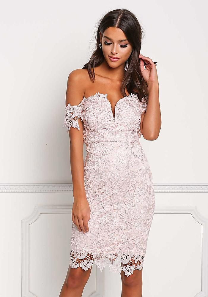 1004cf31ae64 Blush Off Shoulder Sweetheart Floral Embroidered Dress - Going Out - Dresses