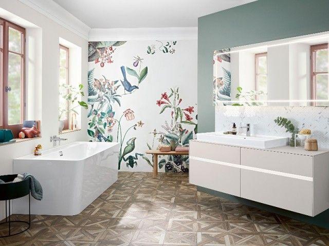 46+ Papier peint sur carrelage salle de bain ideas in 2021